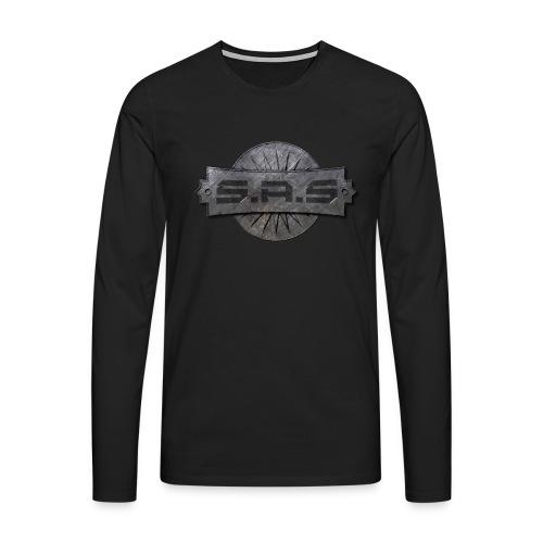 metal background scratches surface 18408 3840x2400 - Mannen Premium shirt met lange mouwen