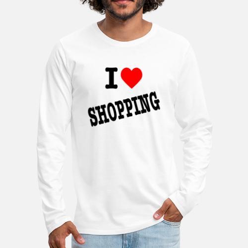 I Love Shopping (Ik Hou van Winkelen) - Mannen Premium shirt met lange mouwen