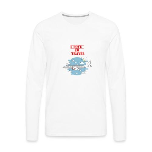 I Love To Travel - Maglietta Premium a manica lunga da uomo