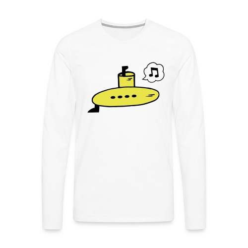 Singing Yellow Submarine - Men's Premium Longsleeve Shirt