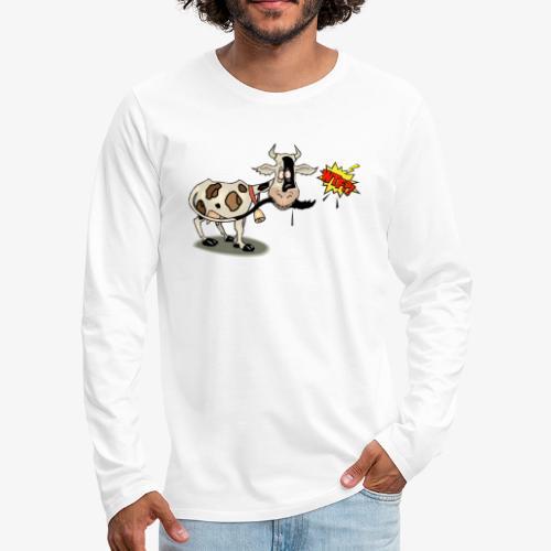 Vaquita - Camiseta de manga larga premium hombre
