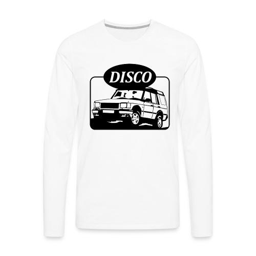 landroverdisco01dblack - Premium langermet T-skjorte for menn