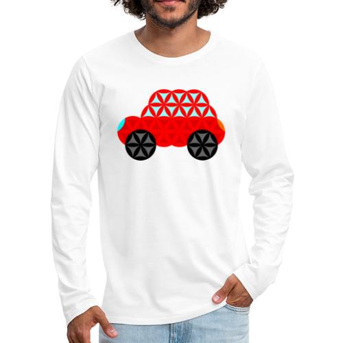 The Car Of Life - M01, Sacred Shapes, Red/R01. - Men's Premium Longsleeve Shirt