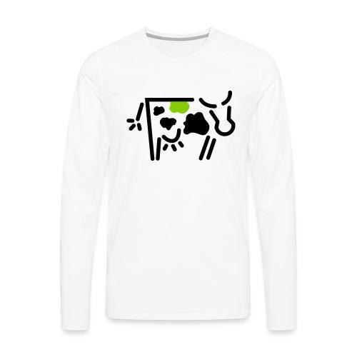 kuh vadis Logo - Männer Premium Langarmshirt