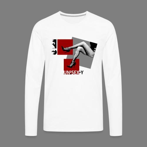 SEXY GIRL STOCKING SHOES 02 - Maglietta Premium a manica lunga da uomo
