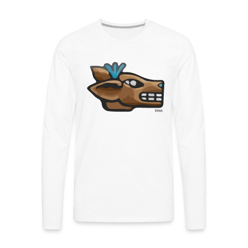 Aztec Icon Deer - Men's Premium Longsleeve Shirt