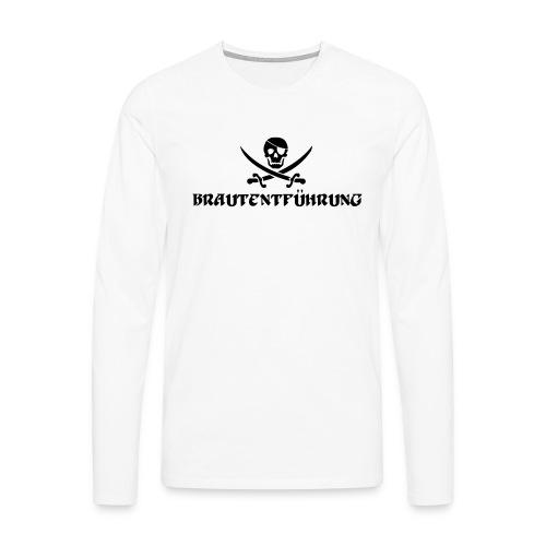 Brautentführung Piratenflagge Junggesellinnen - Männer Premium Langarmshirt