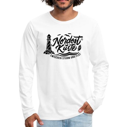 Nordost Küste Logo #6 - Männer Premium Langarmshirt