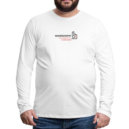 black simple radio outline - Männer Premium Langarmshirt
