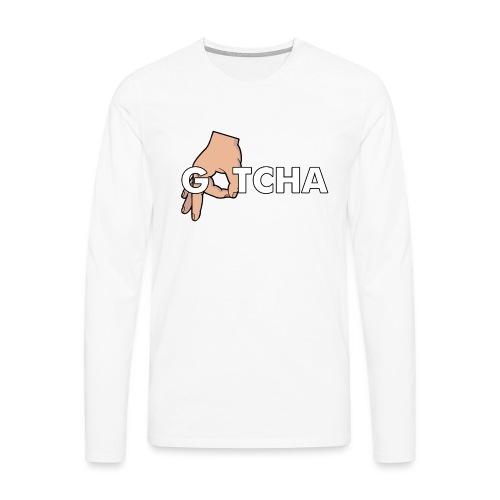 Gotcha Made You Look Funny Finger Circle Hand Game - Men's Premium Longsleeve Shirt