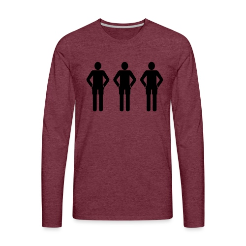3schwarz - Männer Premium Langarmshirt