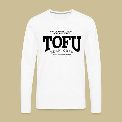 Tofu (black) - Männer Premium Langarmshirt