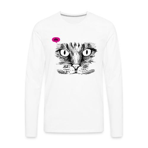 kattegezicht vdh - Mannen Premium shirt met lange mouwen