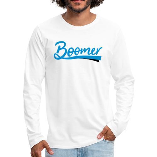 Boomer - 2 color text - diy - Miesten premium pitkähihainen t-paita