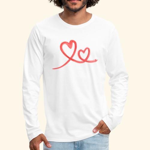 Duo Cœur Main levée - Saint Valentin - T-shirt manches longues Premium Homme
