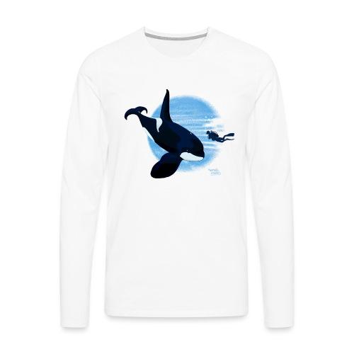 Orca en dappere duiker - T-shirt manches longues Premium Homme