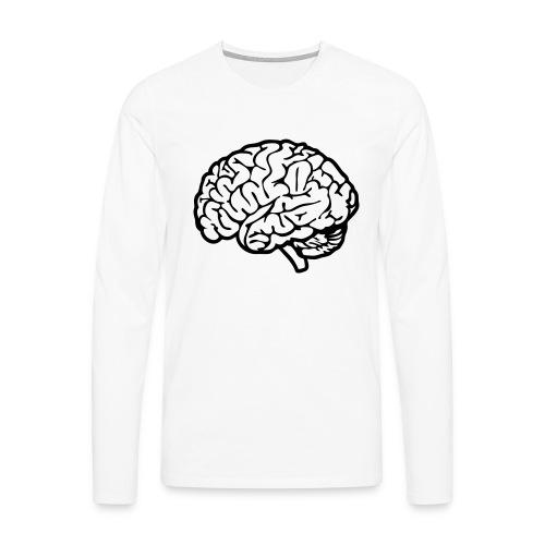 cerveau - T-shirt manches longues Premium Homme