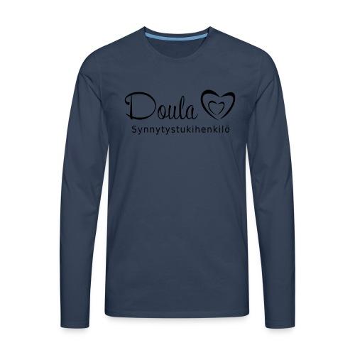 doula sydämet synnytystukihenkilö - Miesten premium pitkähihainen t-paita