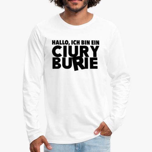 Hallo, ich bin ein CB - T-shirt, Männer - Männer Premium Langarmshirt