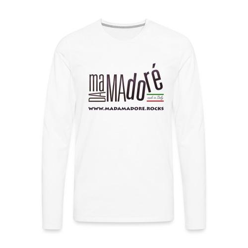 Sacca - Logo Standard + Sito - Maglietta Premium a manica lunga da uomo