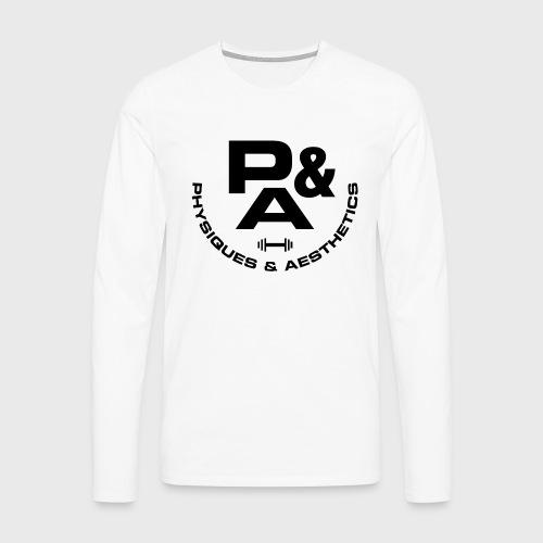 CAMISETA AJUSTADA P&A BLANCO - Camiseta de manga larga premium hombre