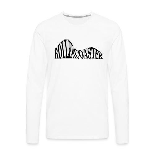 envelope_coaster - Herre premium T-shirt med lange ærmer