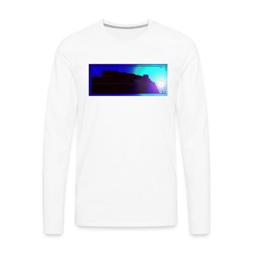 Silhouette of Edinburgh Castle - Men's Premium Longsleeve Shirt