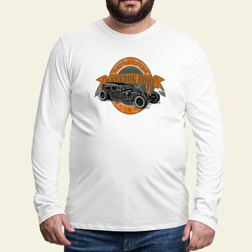 Raredog Rods Logo - Herre premium T-shirt med lange ærmer