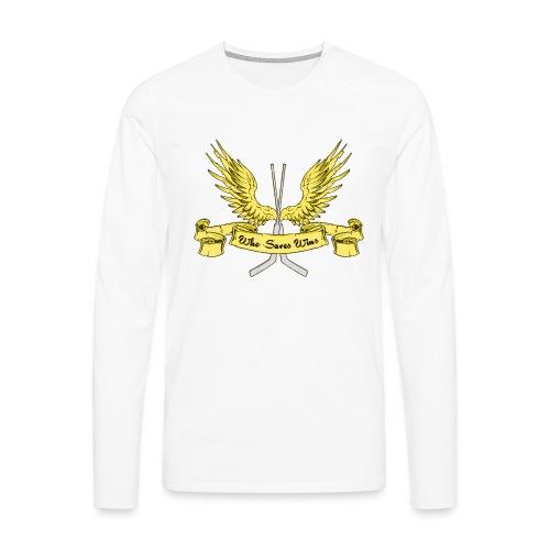 Who Saves Wins, Hockey Goalie - Men's Premium Longsleeve Shirt