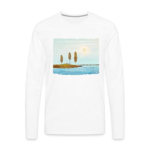 Couleurs d'automne en Laponie - T-shirt manches longues Premium Homme