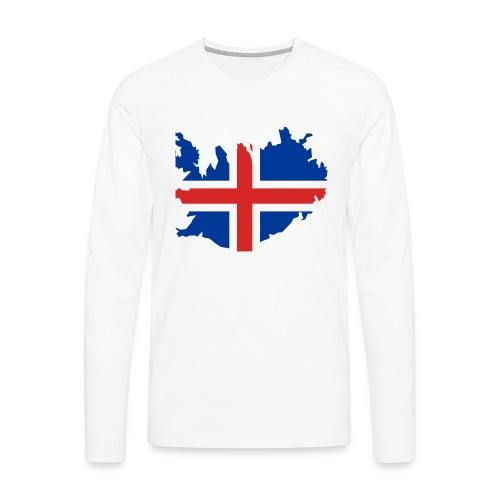 Iceland - Mannen Premium shirt met lange mouwen