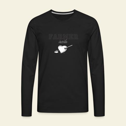 Hearth farmer - Maglietta Premium a manica lunga da uomo