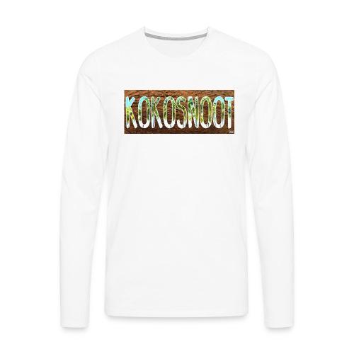Kokosnoot - Mannen Premium shirt met lange mouwen
