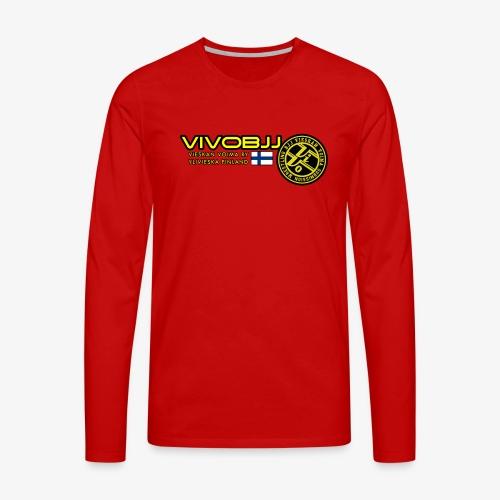 ViVoBJJ Patch White - Miesten premium pitkähihainen t-paita