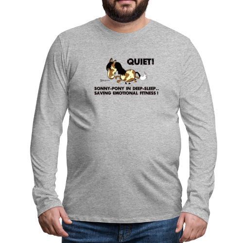 QUIET Sonny Pony in deep sleep - Männer Premium Langarmshirt