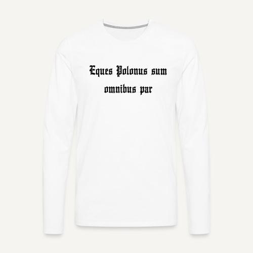 equespolonus - Koszulka męska Premium z długim rękawem