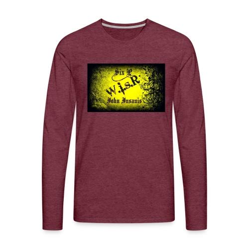 Six P & John Insanis Treenikassi - Miesten premium pitkähihainen t-paita