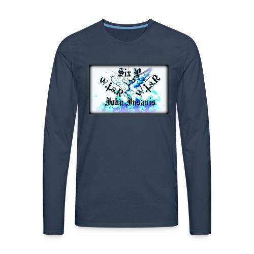 Six P & John Insanis WISR -Huppari- - Miesten premium pitkähihainen t-paita