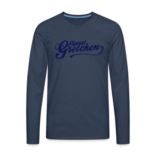 Planet Gretchen svart - Långärmad premium-T-shirt herr