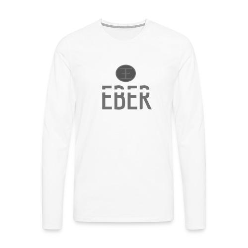 EBER: T-Shirt - Grey - Långärmad premium-T-shirt herr