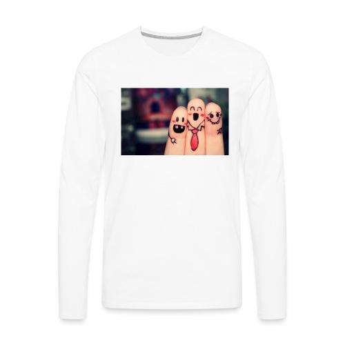słodkie palce - Koszulka męska Premium z długim rękawem