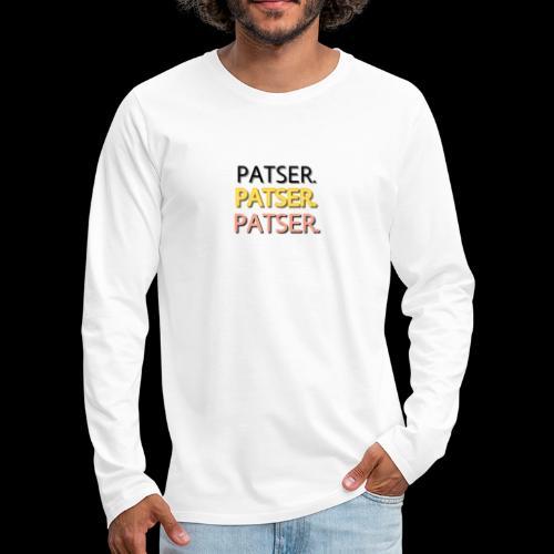 PATSER GOUD - Mannen Premium shirt met lange mouwen