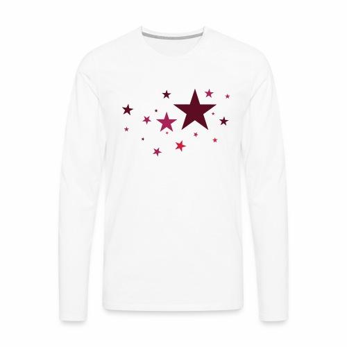 Sterne dreifarbig Vektor - Männer Premium Langarmshirt