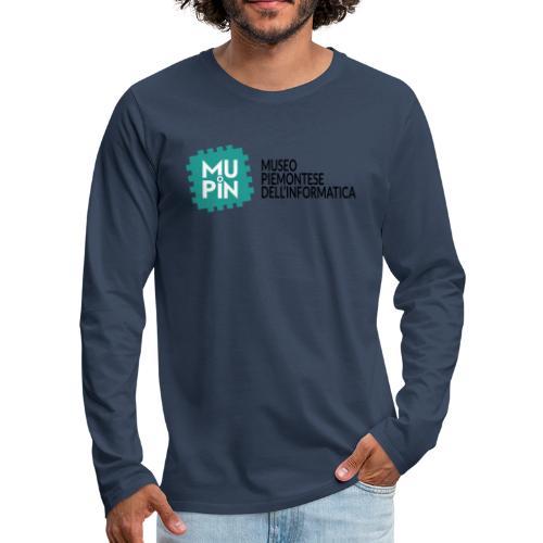 Logo Mupin con scritta - Maglietta Premium a manica lunga da uomo