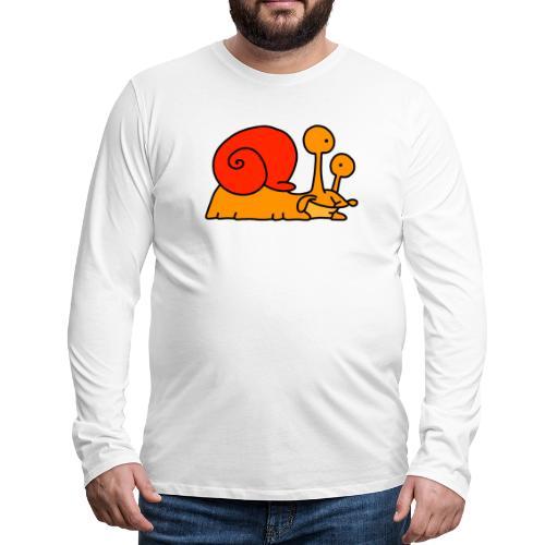 Schnecke Nr 97 von dodocomics - Männer Premium Langarmshirt
