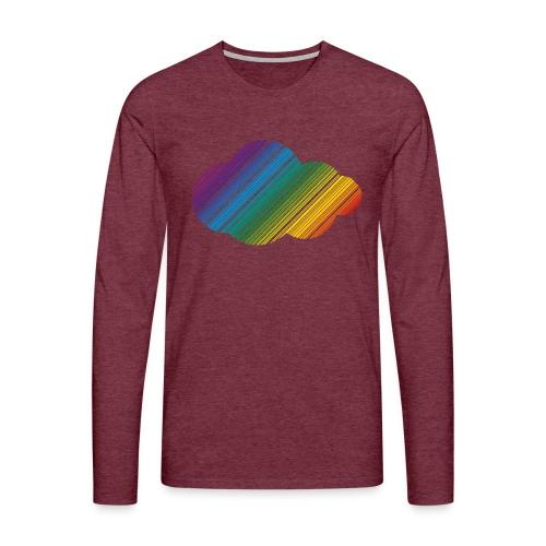 Regnbågsmoln - Långärmad premium-T-shirt herr