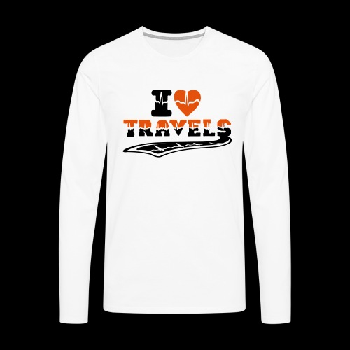 i love travels surprises 2 col - Men's Premium Longsleeve Shirt