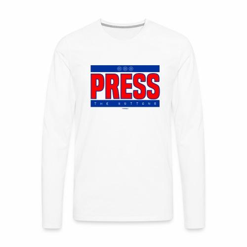 Press the buttons - Mannen Premium shirt met lange mouwen