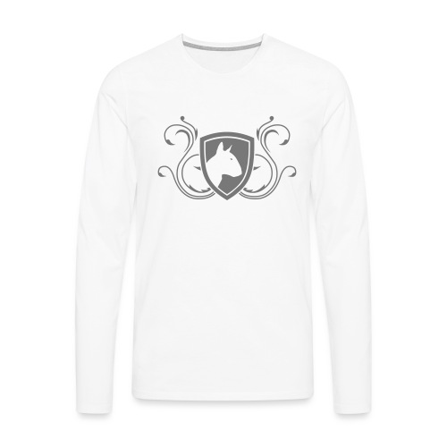 Bullterrier Wappen 1c - Männer Premium Langarmshirt