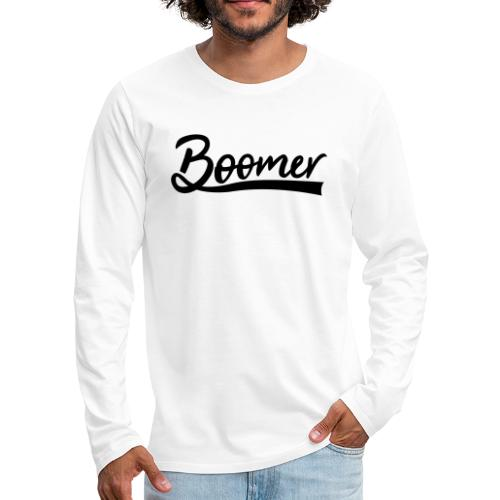 Boomer with 1 editable text color - Miesten premium pitkähihainen t-paita